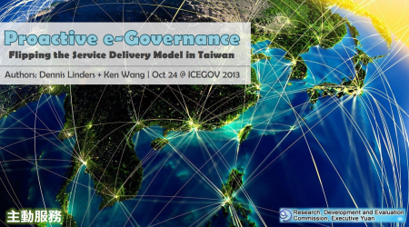 Image of Cover Slide for Proactive E-Governance in Taiwan